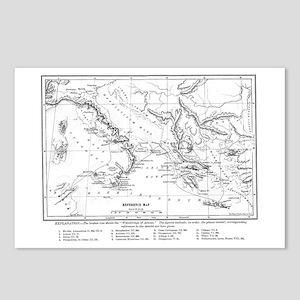 Wanderings of Aeneas Map Postcards (Package of 8)