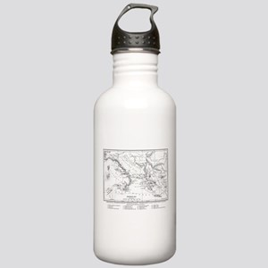 Wanderings of Aeneas Map Stainless Water Bottle 1.
