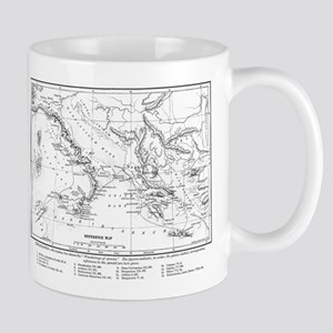 Wanderings of Aeneas Map Mug