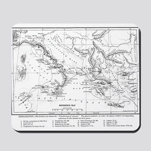 Wanderings of Aeneas Map Mousepad
