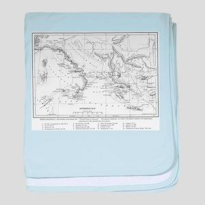 Wanderings of Aeneas Map baby blanket