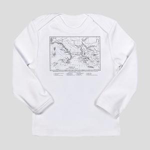 Wanderings of Aeneas Map Long Sleeve Infant T-Shir