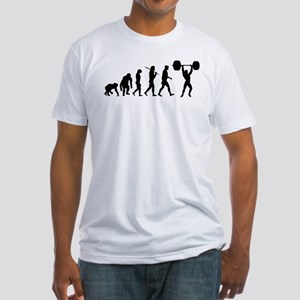Evolution of Weightlifting Fitted T-Shirt