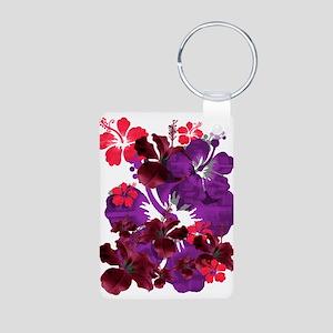 Hibiscus Aluminum Photo Keychain