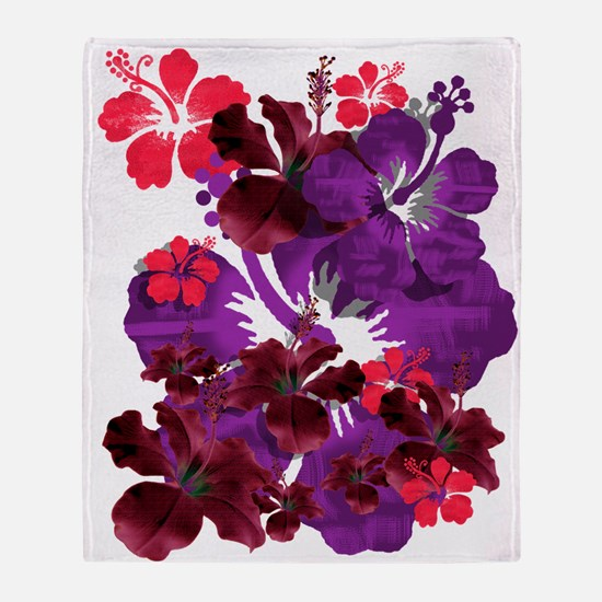 Hibiscus Throw Blanket