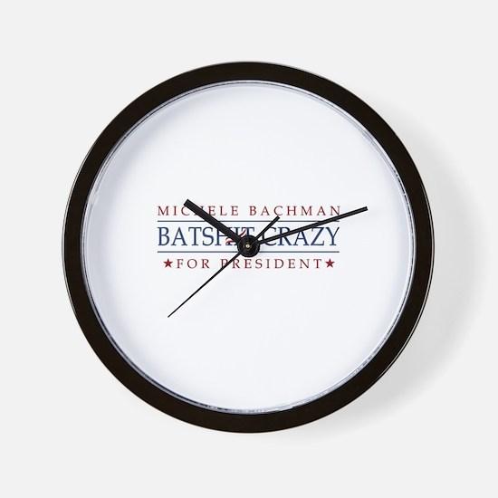 Michele Batshit Crazy for President Wall Clock
