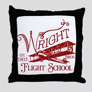 Wright Bros. Flight School (c Throw Pillow
