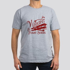 Wright Bros. Flight School (c Men's Fitted T-Shirt