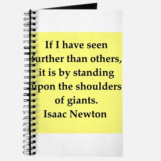 Sir Isaac Newton quotes Journal