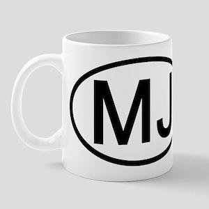 MJ - Initial Oval Mug