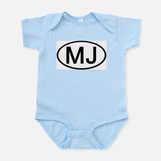MJ - Initial Oval Infant Creeper