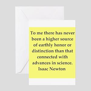 Sir Isaac Newton quotes Greeting Card