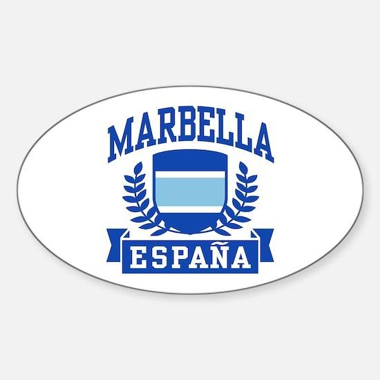 Marbella Espana Sticker (Oval)