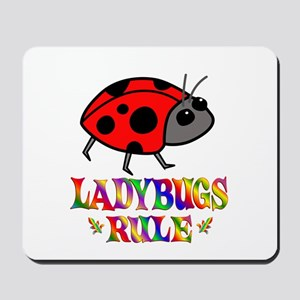 Fun Ladybugs Rule Mousepad