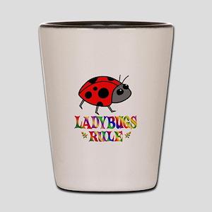 Fun Ladybugs Rule Shot Glass