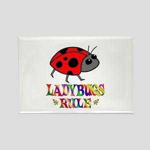 Fun Ladybugs Rule Rectangle Magnet