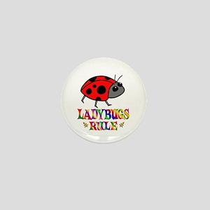 Fun Ladybugs Rule Mini Button