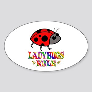 Fun Ladybugs Rule Sticker (Oval)