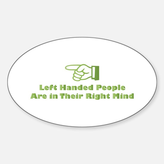 Right Mind Oval Decal