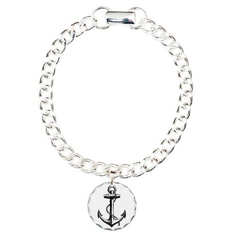 Vintage Anchor Charm Bracelet, One Charm
