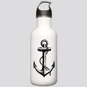 Vintage Anchor Stainless Water Bottle 1.0L