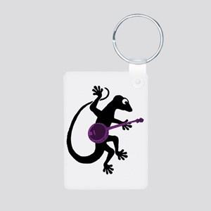 Gecko Banjo Aluminum Photo Keychain