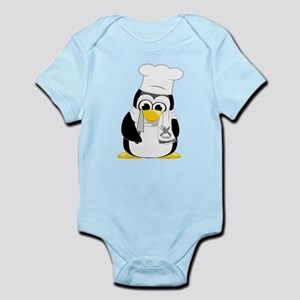 Chef Penguin Scarf Infant Bodysuit