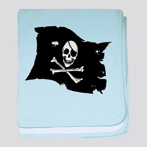 Pirate Flag Tattoo baby blanket