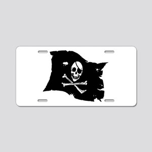 Pirate Flag Tattoo Aluminum License Plate