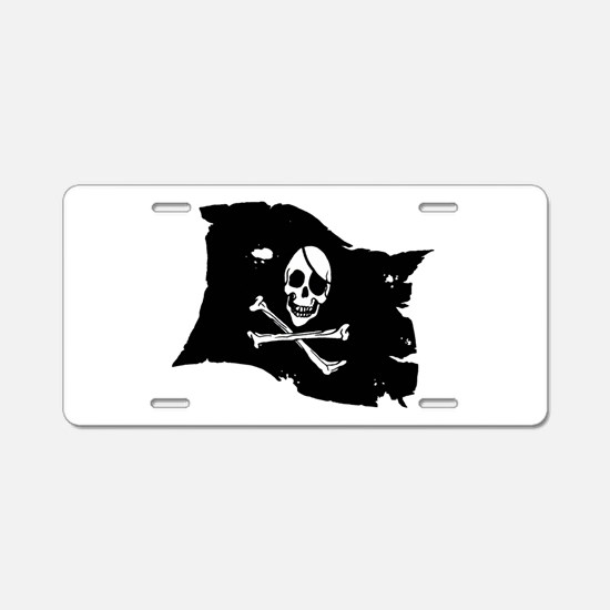 Pirate Flag Tattoo Aluminum License Plate