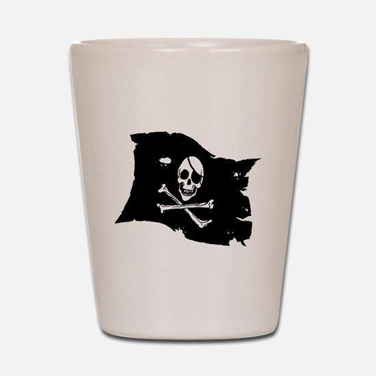 Pirate Flag Tattoo Shot Glass