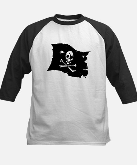 Pirate Flag Tattoo Kids Baseball Jersey