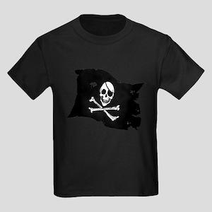 Pirate Flag Tattoo Kids Dark T-Shirt