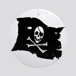 Pirate Flag Tattoo Ornament (Round)