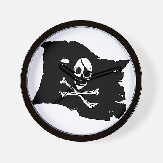 Pirate Flag Tattoo Wall Clock