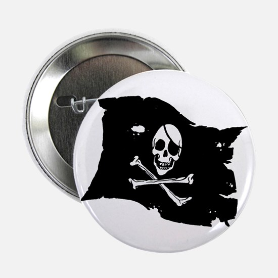 "Pirate Flag Tattoo 2.25"" Button"