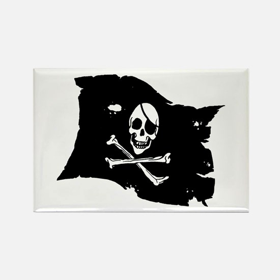 Pirate Flag Tattoo Rectangle Magnet