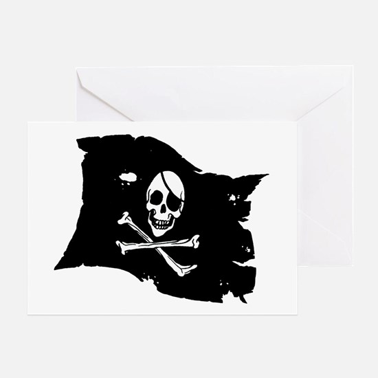 Pirate Flag Tattoo Greeting Card