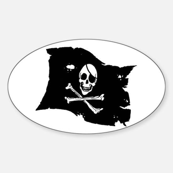 Pirate Flag Tattoo Sticker (Oval)
