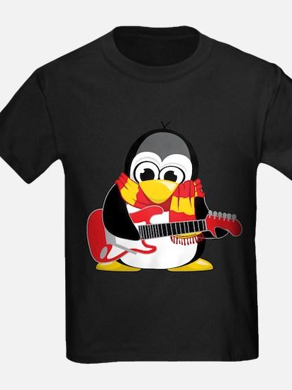 Electric Guitar Penguin Scarf T