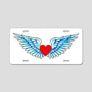 Winged Heart Tattoo Aluminum License Plate