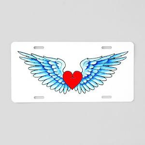 Winged Heart Tattoo Aluminum License Plate
