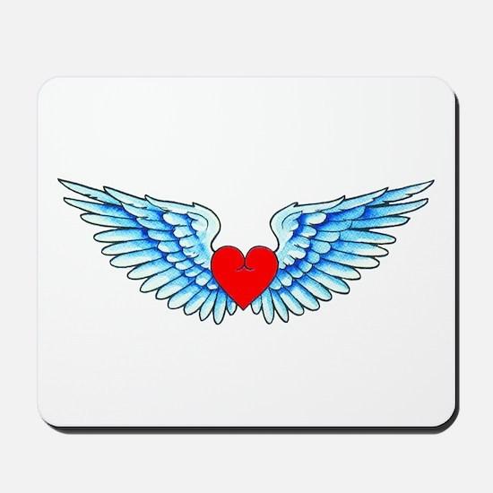 Winged Heart Tattoo Mousepad
