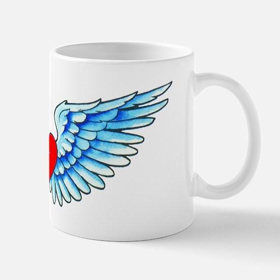 Winged Heart Tattoo Mug