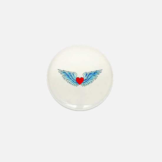 Winged Heart Tattoo Mini Button