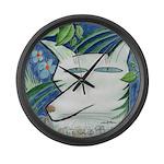Catfox Large Wall Clock