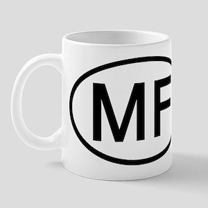 MF - Initial Oval Mug