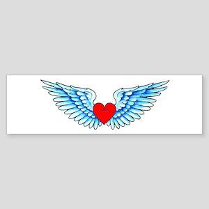 Winged Heart Tattoo Sticker (Bumper)