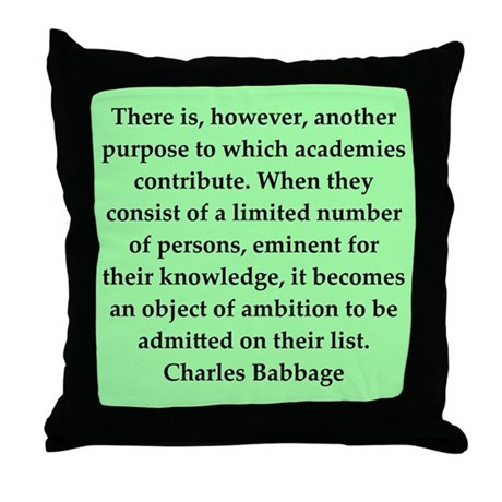 Charles Babbage quotes Throw Pillow