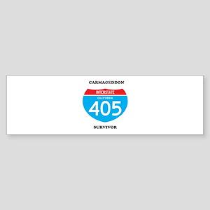 interstate 405 survivor Sticker (Bumper)
